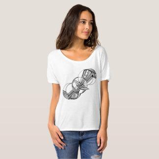 Bird Graphic Print on Women's Casual White T-Shirt