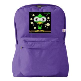 Bird(Green) Backpack, Amethyst Backpack