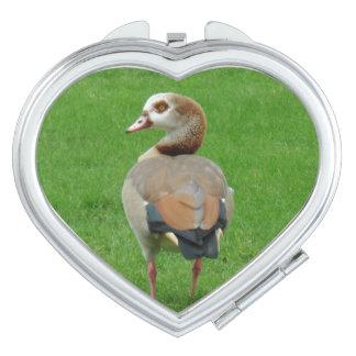 Bird  Heart Compact Mirror