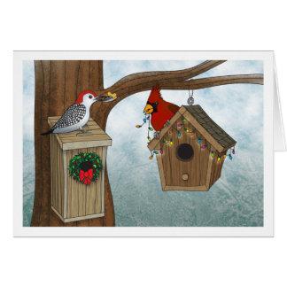 Bird House Christmas Card