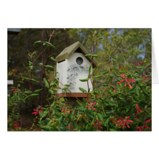 Bird House Flowering Vine Card