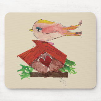 Bird House Mouse Pad