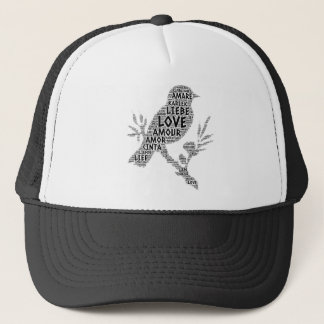 Bird illustrated with Love Word Trucker Hat