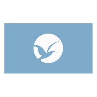 BIRD IN CIRCLE LOGO (BLUE) Business Card