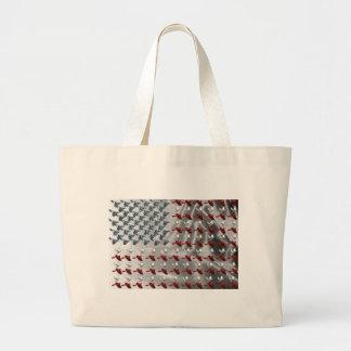 Bird in Flight American Flag Tote Bags