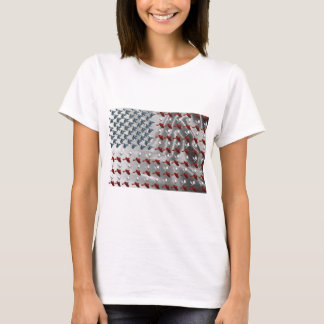 Bird in Flight American Flag T-Shirt