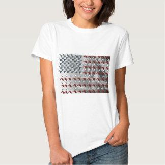 Bird in Flight American Flag T Shirts