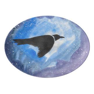 Bird In Flight Serving Platter Porcelain Serving Platter