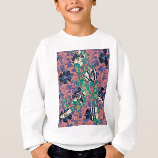 BIRD IN WALLPAPER SWEATSHIRT