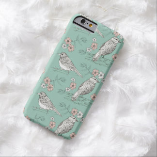 Bird Ink Drawing Robins Egg Blue Barely There iPhone 6 Case