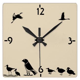 Bird Island Square Wall Clock