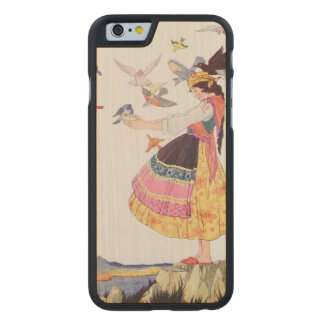 Bird Lady Carved Maple iPhone 6 Case