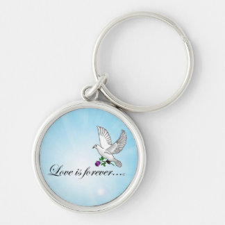 Bird LOVE is Forever Key Chain