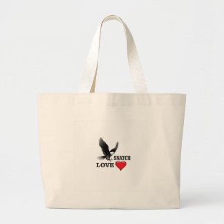 bird love snatch large tote bag