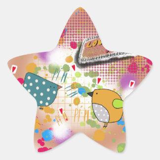 bird love star sticker