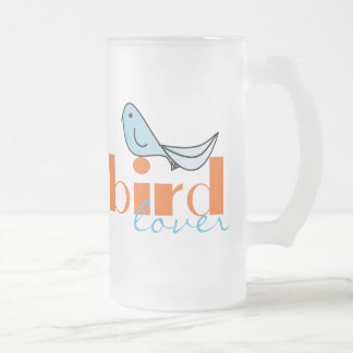Bird Lover Glass Beer Mug Stein