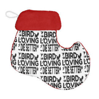 Bird Loving Die Setter Elf Christmas Stocking