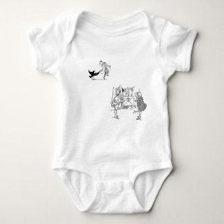Bird Man Dance Frogs Baby Bodysuit