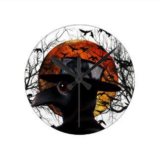 Bird-man Round Clock