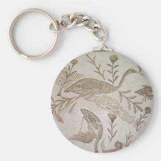 Bird Mosaic in Tunisia Key Ring