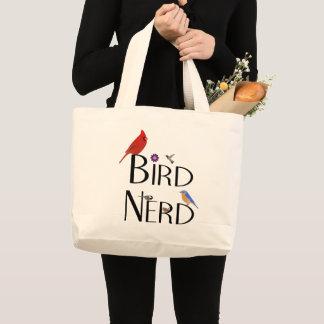 Bird Nerd Design Large Tote Bag