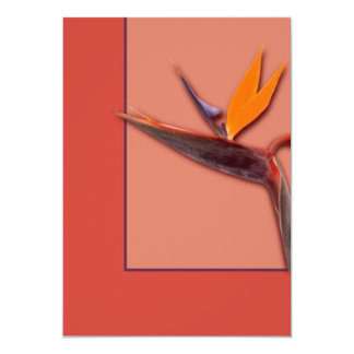Bird of Paradise 13 Cm X 18 Cm Invitation Card