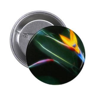 Bird of Paradise 2 Glow 6 Cm Round Badge