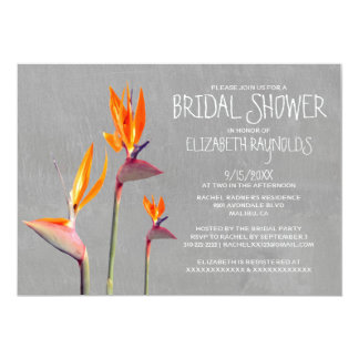 "Bird of Paradise Bridal Shower Invitations 5"" X 7"" Invitation Card"