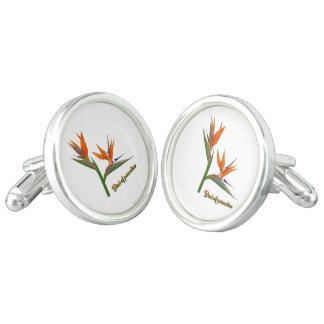 Bird Of Paradise Cuff Links