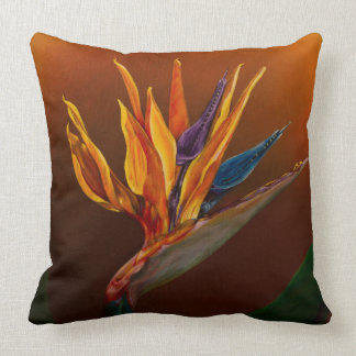 Bird of paradise cushion