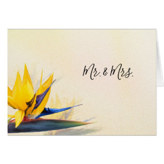 Bird of Paradise Custom Thank You Note Cards