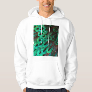 Bird of Paradise feather close-up Hoodie
