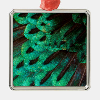 Bird of Paradise feather close-up Metal Ornament