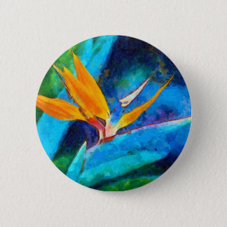 bird of paradise flower 6 cm round badge