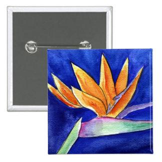 Bird of Paradise Flower Art Button or Pin