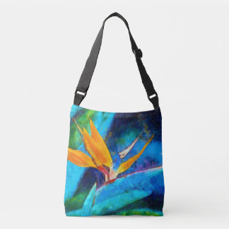 bird of paradise flower crossbody bag