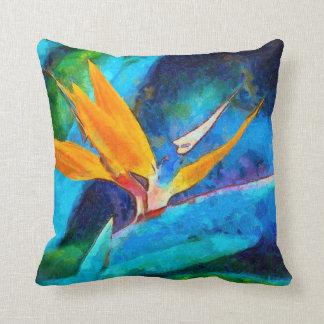 bird of paradise flower cushion