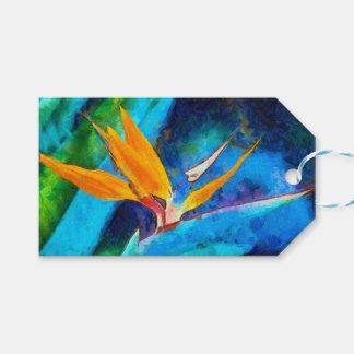 bird of paradise flower gift tags
