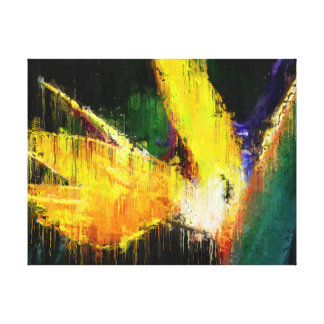 Bird of Paradise Flower Impressionist Tropical Art Canvas Print