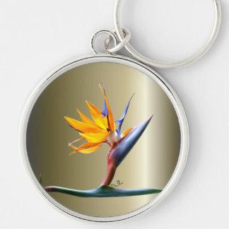 Bird of Paradise Flower Key Ring