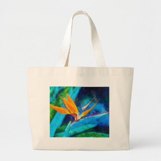 bird of paradise flower large tote bag