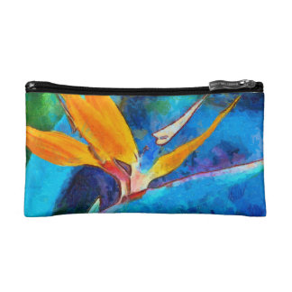 bird of paradise flower makeup bag