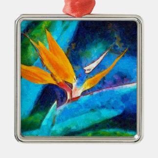 bird of paradise flower metal ornament
