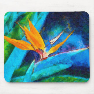 bird of paradise flower mouse pad