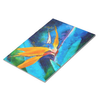 bird of paradise flower notepad