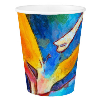 bird of paradise flower paper cup