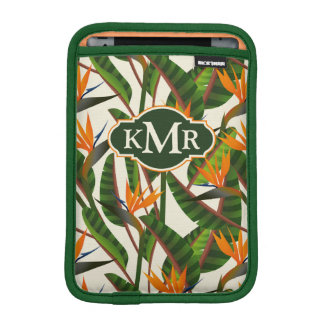 Bird Of Paradise Flower Pattern | Monogram iPad Mini Sleeves