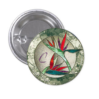 Bird of Paradise Flower Stained Glass Look Pins