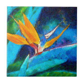 bird of paradise flower tile