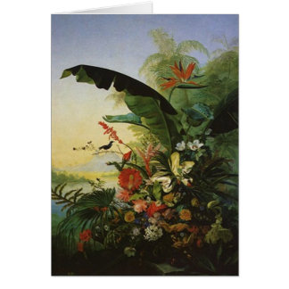 Bird Of Paradise Flowers Joyful THANK YOU Card